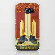Chicago vintage poster Galaxy S7 Slim Case