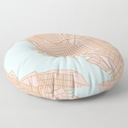 San Diego map Floor Pillow