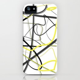 Yellow Black Strokes by LH iPhone Case