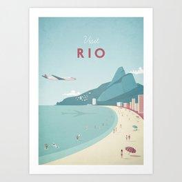Vintage Rio Travel Poster Art Print
