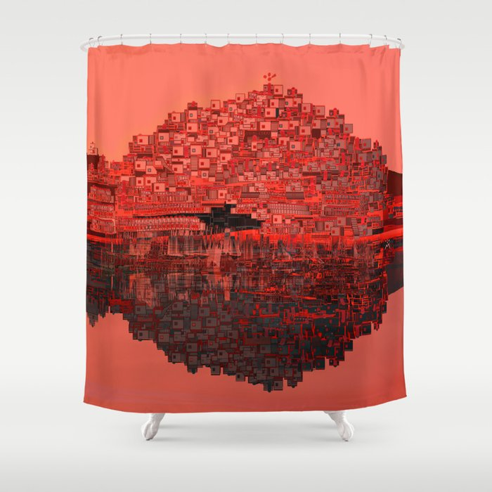 Living The Coral Shower Curtain