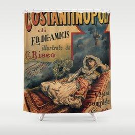 Constantinople Italian vintage book advertisement Shower Curtain