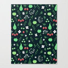 Summer fruits dark Canvas Print