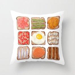Breakfast Toast Throw Pillow