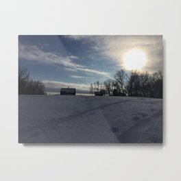 Winter welcome Metal Print