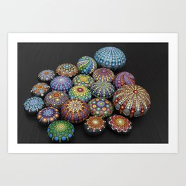 Mandala painted stones 2 - Photography Art Print