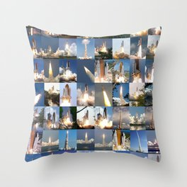 Shuttle Montage Throw Pillow
