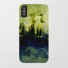 abstract landscape with light iPhone X Slim Case