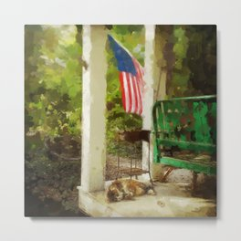 A Nap on the Porch, Washington Grove Metal Print