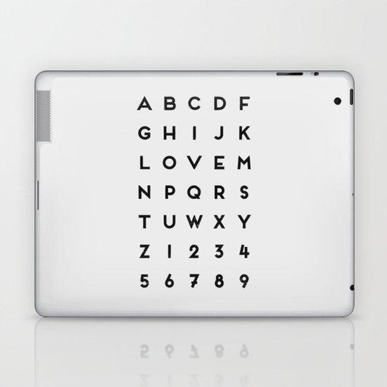 Letter Love - White Laptop & iPad Skin