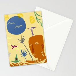 light years of rock blooms Stationery Cards