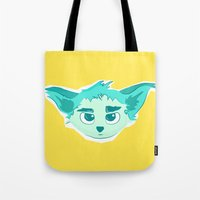 elf Tote Bags featuring Elf by Gabriel
