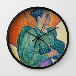 Woman with a Parasol (Femme à l'ombrelle) Wall Clock