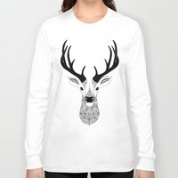 deer Long Sleeve T-shirts featuring Deer by Art & Be