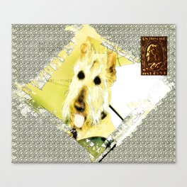 Wheaten Scottish Terrier - During Sickness and Health Canvas Print