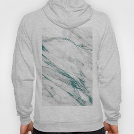 Gray Marble Aqua Teal Metallic Glitter Foil Style Hoody