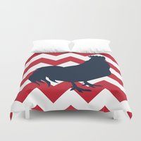 rooster Duvet Covers featuring Rooster by Gathered Nest Designs