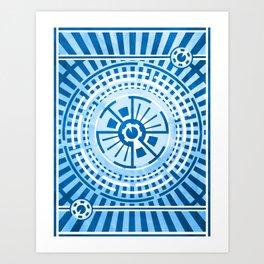 Hour of Krona (Blue) Art Print