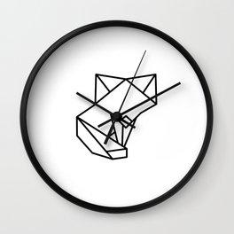 Tiny Origami Fox Wall Clock