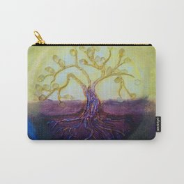 Citrine Tree in Yellow & Purple Carry-All Pouch