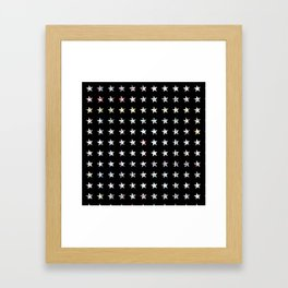 The System - small star Framed Art Print