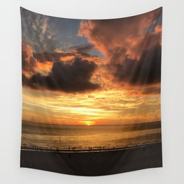 Clearwater Beach Sunset Wall Tapestry