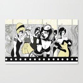 LADIES TOILET Canvas Print