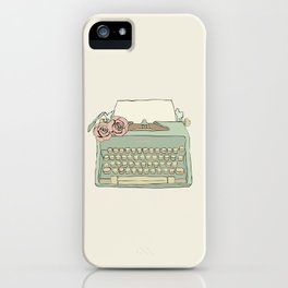 Retro typewriter iPhone Case