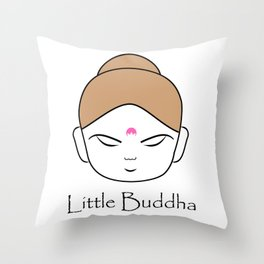 Cute little Buddha Throw Pillow