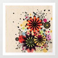 blossom Art Prints featuring Blossom by Kakel