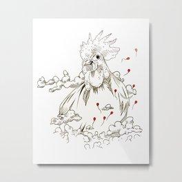 Chicken of the Sky Metal Print