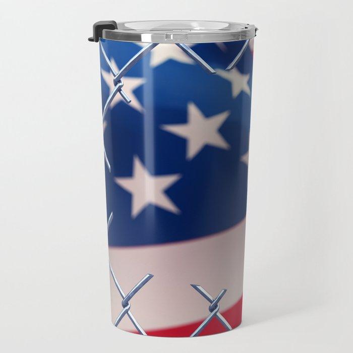 Illegal immigration concept Travel Mug