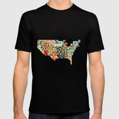 Geometric United States Mens Fitted Tee Black MEDIUM