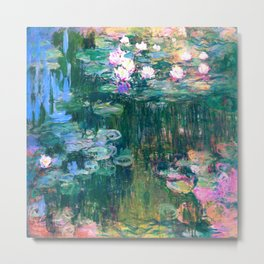 water lilies : Monet Metal Print