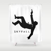skyfall Shower Curtains featuring Skyfall by Arian Noveir