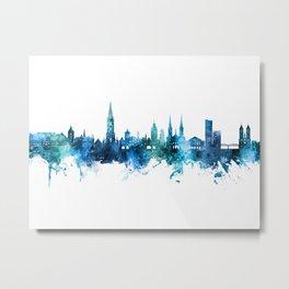 Freiburg Germany Skyline Metal Print