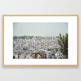 Athens Skyline Framed Art Print
