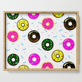 Donuts pattern Serving Tray