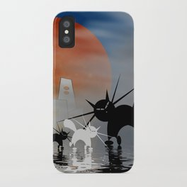 mooncats and their city iPhone Case