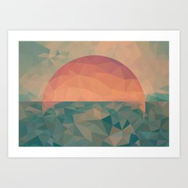 Tycho Sunrise Art Print