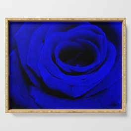 Expansion Blue rose flower Serving Tray