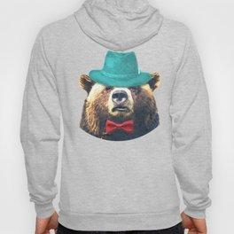 Funny Bear Illustration Hoody