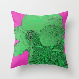 Hipster Neptune - Seaweed Throw Pillow