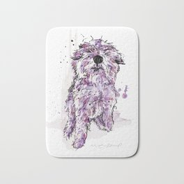 Purple Dog Bath Mat
