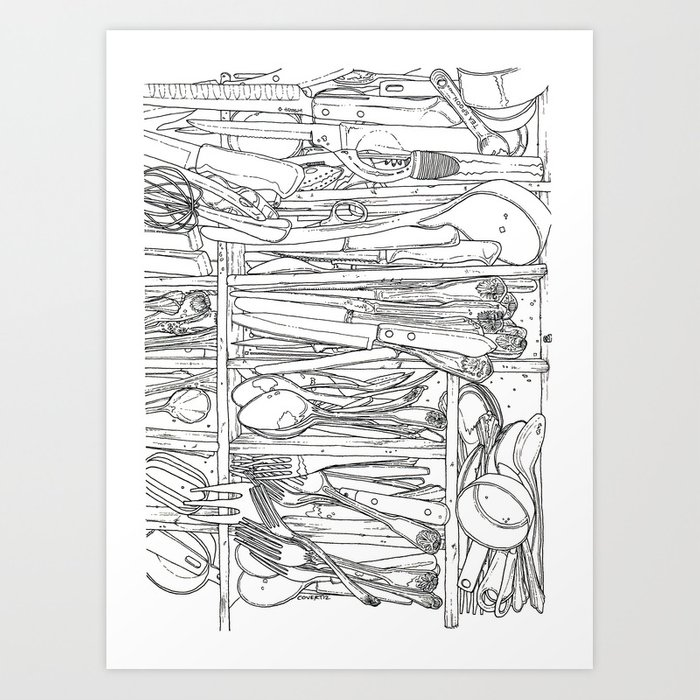 Everything And The Kitchen Sink.Everything But The Kitchen Sink Art Print By Jasoncovert