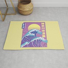 Great Wave Vaporwave Kanagawa Rug