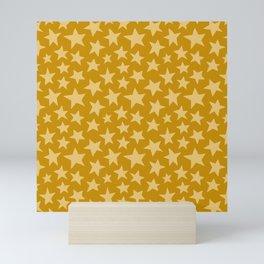 Mustard Doodle Stars Mini Art Print