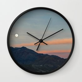 Full Moon Over Death Valley Wall Clock