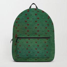"""Porstroke, Teal Shade Pattern & Red polka dots"" Backpack"