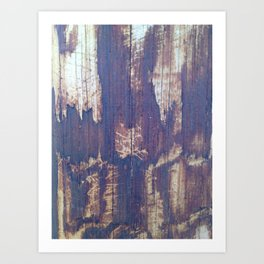 telephone pole grain Art Print